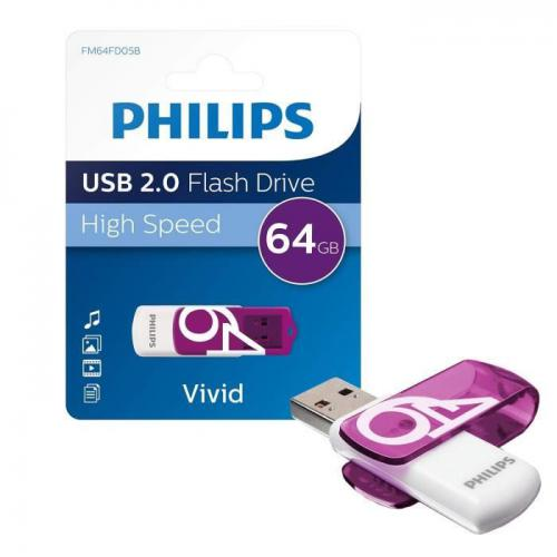 Philips Clé USB - Snow - USB 2.0 - 64Go